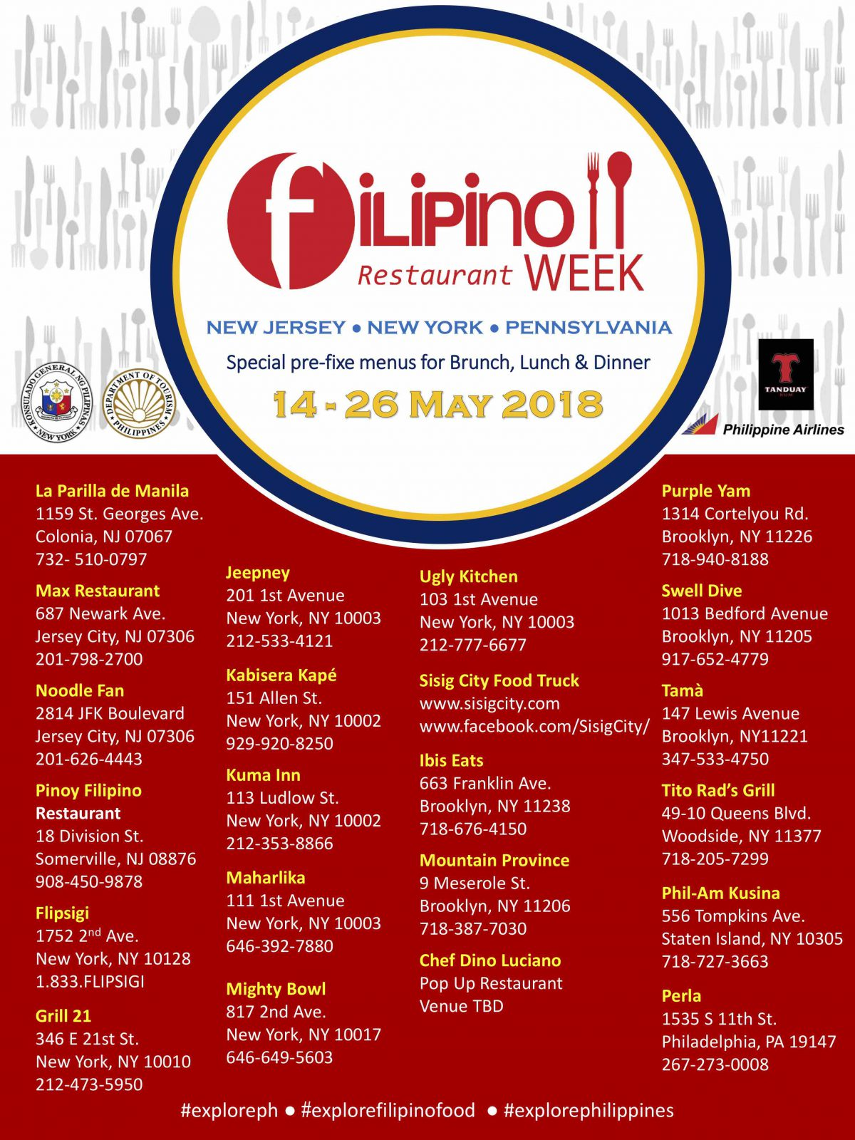Philippine Food Restaurant Week
