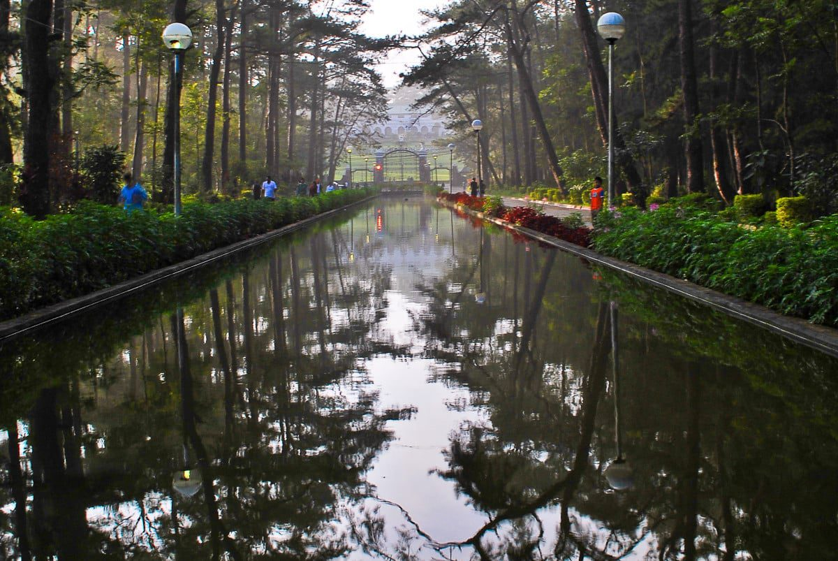 Wright Park in front if the Mansion House Baguio City
