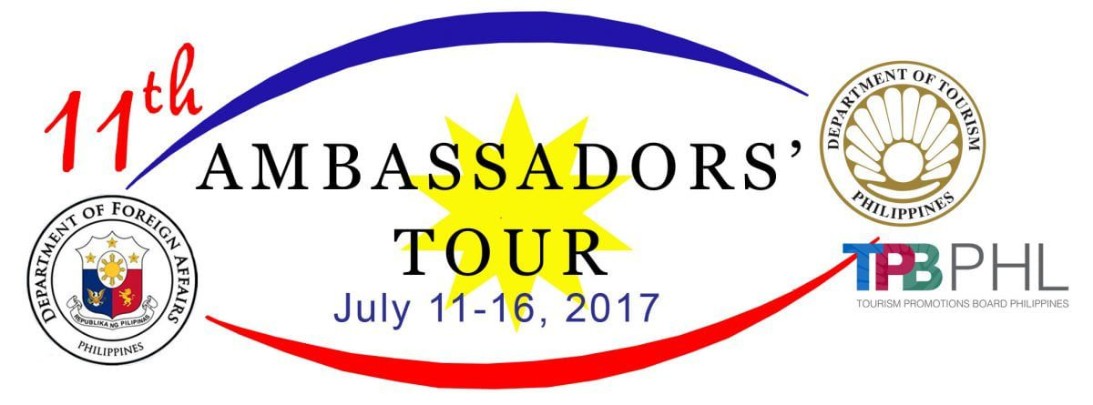 Philippine Department of Tourism Secretary Wanda Teo invites you to the 11th  Ambassadors Tour this July 11-16, 2017