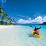 Couple kayaking in Palawan