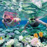 Couple snorkeling in Palawan