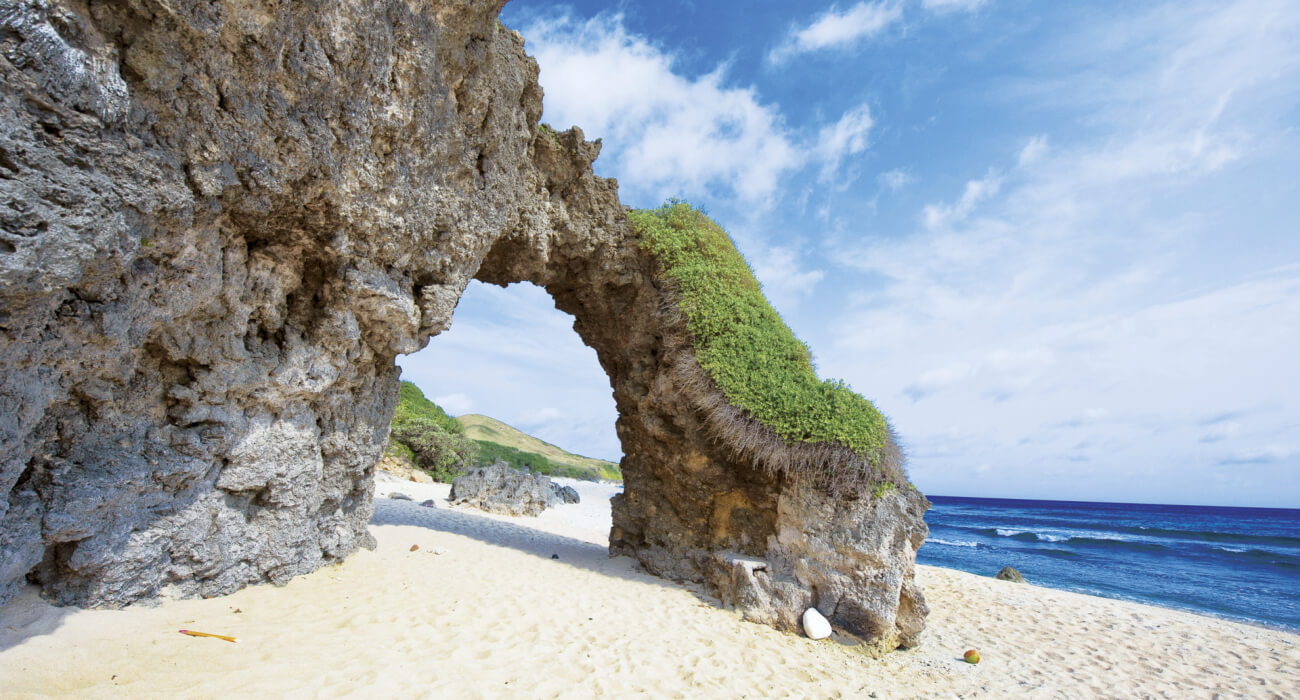 rock arch by the shore philippines