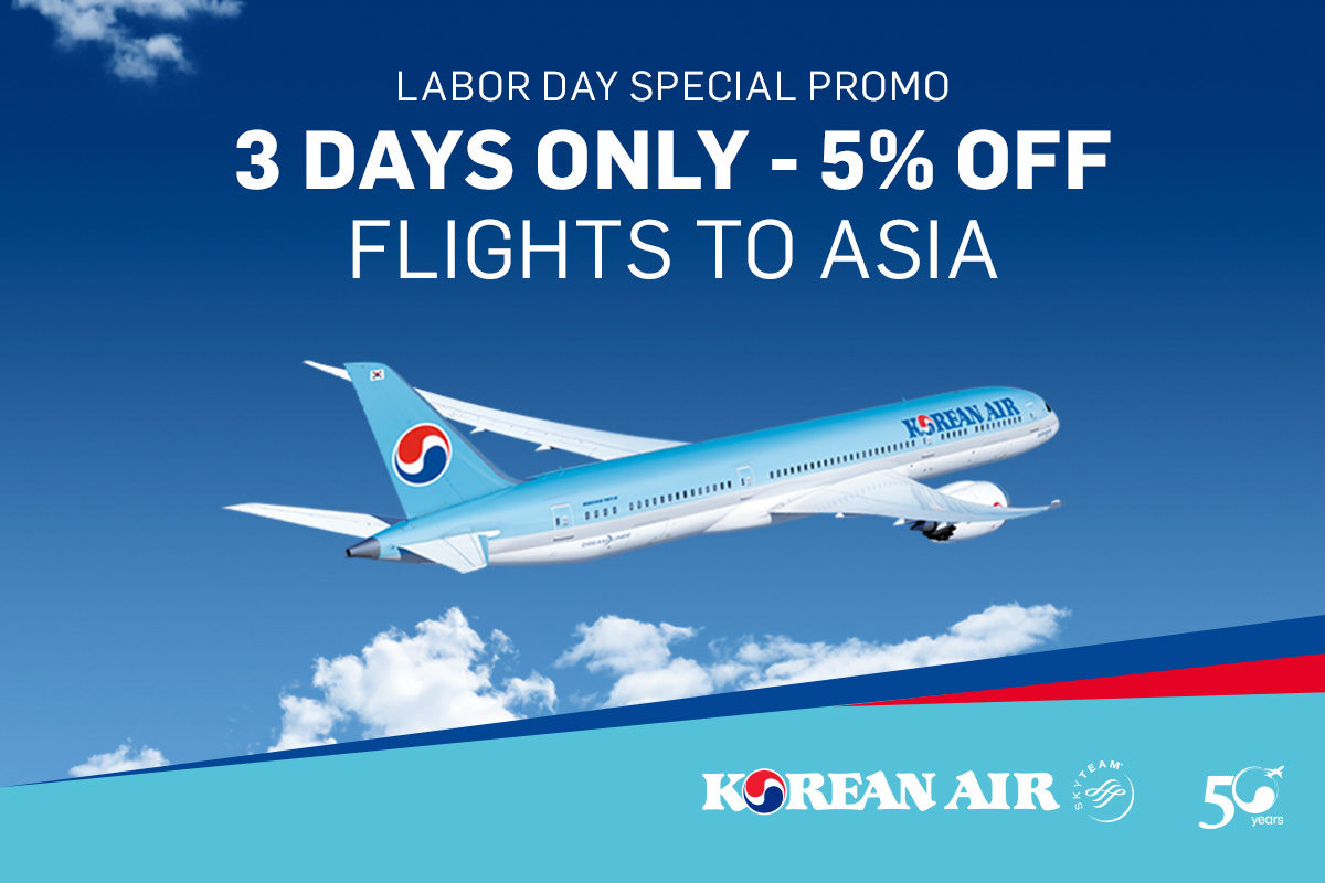 Korean Air Labor day promo
